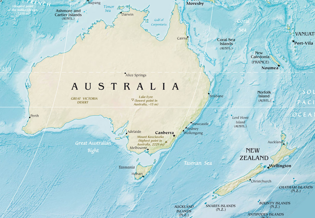 Australia and New Zealand Location Australian trade